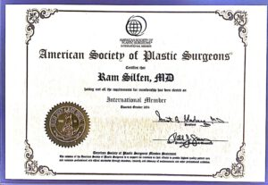 תעודת American Society of Plastic Surgeons